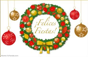 Tarjeta con adorno festivo