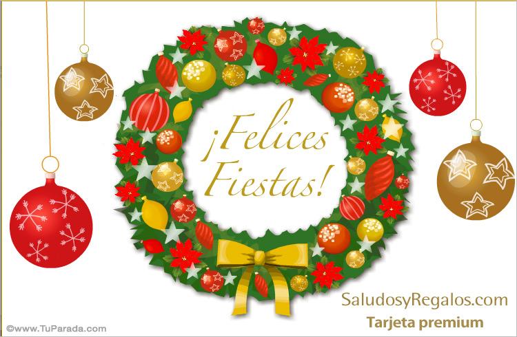 Tarjeta - Tarjeta con adorno festivo