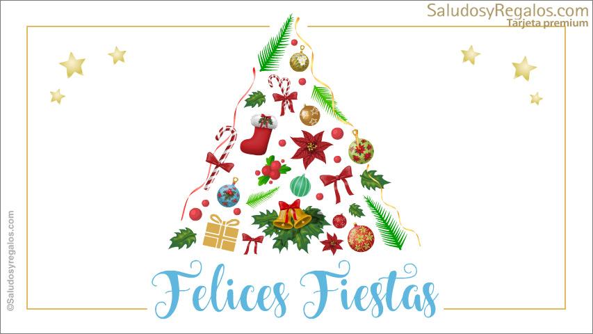 Tarjeta - Árbol de Navidad festivo