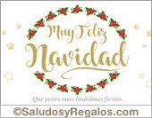 Tarjeta de Navidad y Felices Fiestas