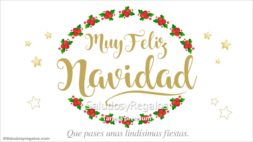 Tarjeta - Muy feliz Navidad especial