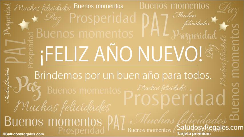 Tarjeta - Feliz año, paz y prosperidad