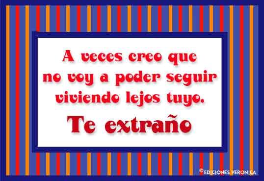 Tarjeta De Te Extraño Frases Informales Tarjetas