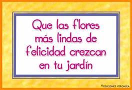Que las flores...