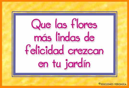 Tarjeta - Que las flores...