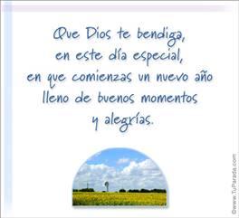 Que Dios te bendiga en este día especial.