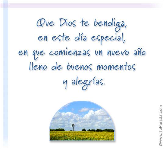 Tarjeta - Que Dios te bendiga en este día especial.