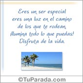 Eres un ser especial