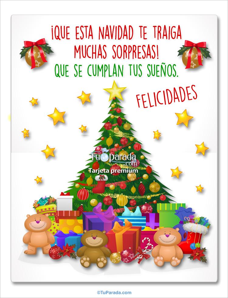 Tarjeta - Imagen de pino de Navidad