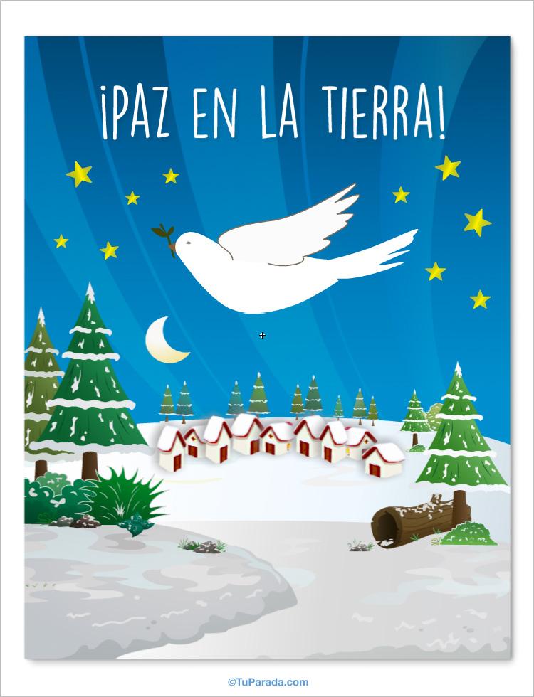 Tarjeta - Paloma de la paz