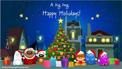 Tarjetas De Navidad En Inglés Postales Navideñas En Idioma Inglés Christmas Ecards Lengua Inglesa Tu Parada