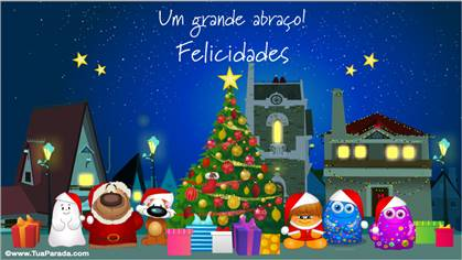 Cartão de Natal alegre