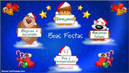 Tarjetas, postales: Navidad en portugués