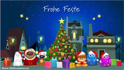 Tarjetas, postales: Navidad en alemán