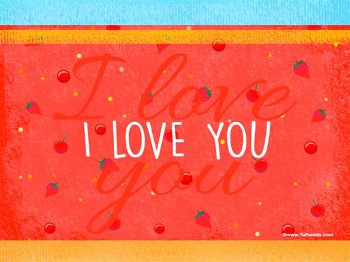 Imagen con frase - I love you