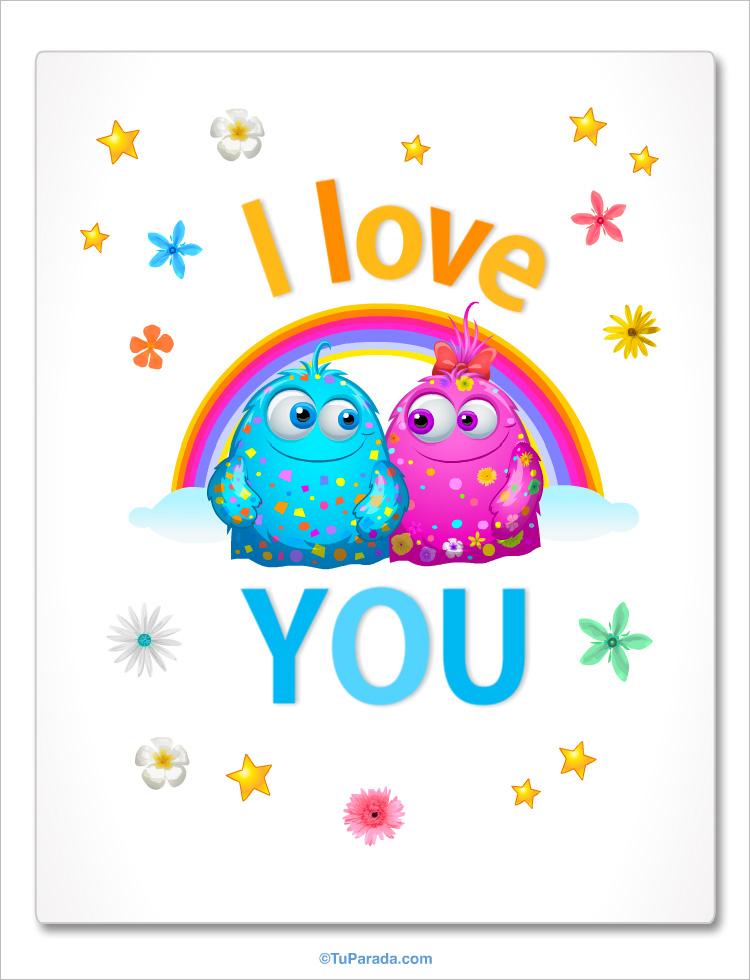 Tarjeta - Imagen con frase - I love you