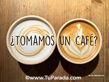 Imagen con frase - Café