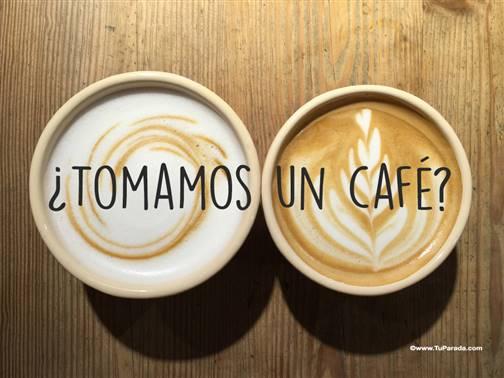 Imagen con frase - Café para dos.