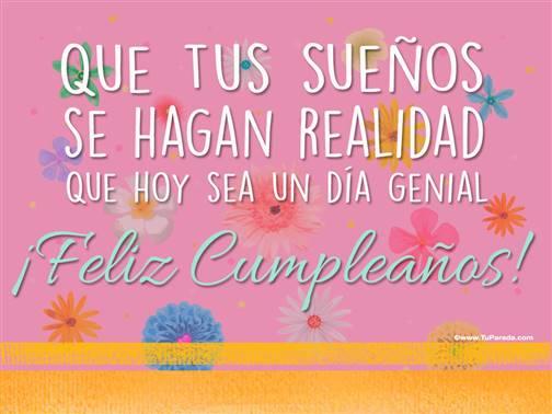 Imagen con frase - Feliz cumpleaños
