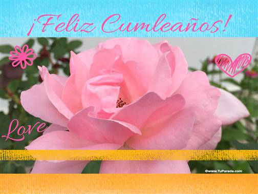 Imagen de feliz cumpleaños con flor