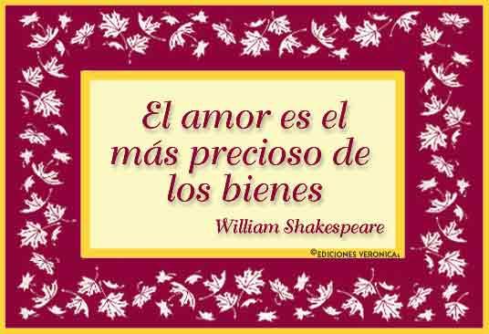 Tarjeta - Frase de Shakespeare