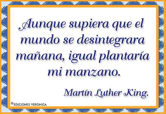 Tarjeta - Frase de Martin Luther King