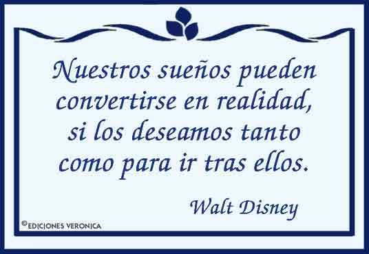 Frase De Walt Disney Frases Célebres Tarjetas