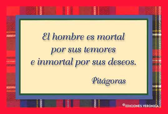 Tarjeta - Frase de Pitágoras