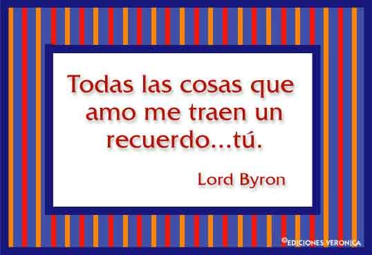 Tarjeta - Frase de Lord Byron