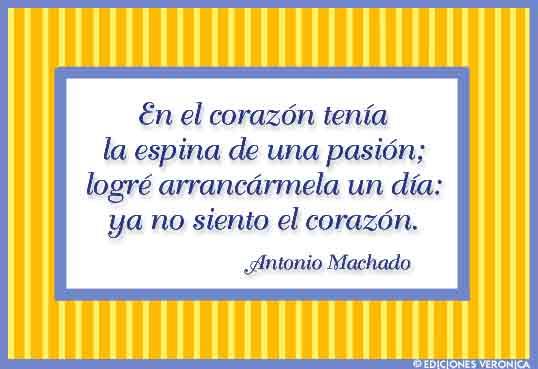 Tarjeta - Frase de Antonio Machado