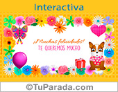 Tarjeta flor interactiva