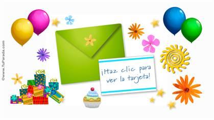 Tarjeta de cumpleaños interactiva