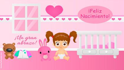 Tarjeta para bebita