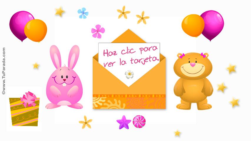 Tarjeta de cumpleaños para niñas Ecards interactivas, tarjetas
