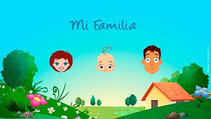 Tarjeta Familia de tres