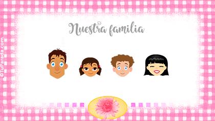 Tarjeta Familia de cuatro