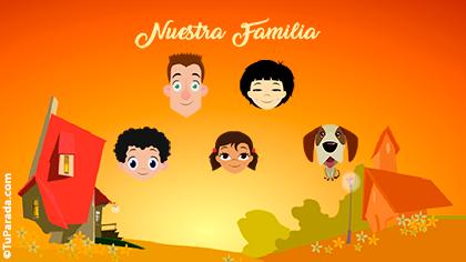 Tarjeta Familia de cinco