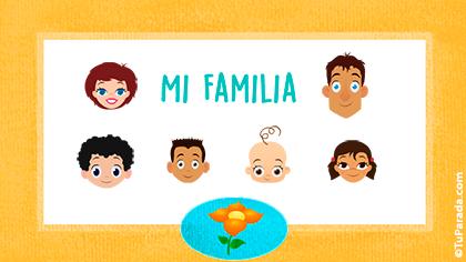 Tarjeta Familia de seis