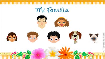 Tarjeta Familia de siete
