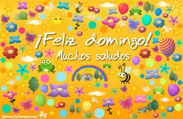 Feliz domingo multicolor