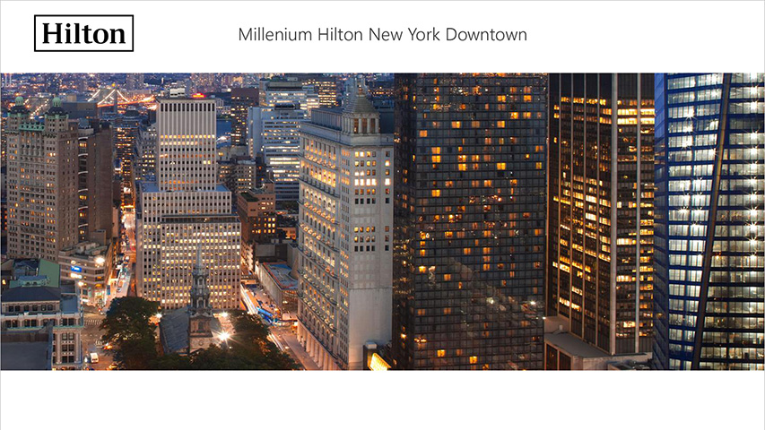 Tarjeta - Hilton Millenium
