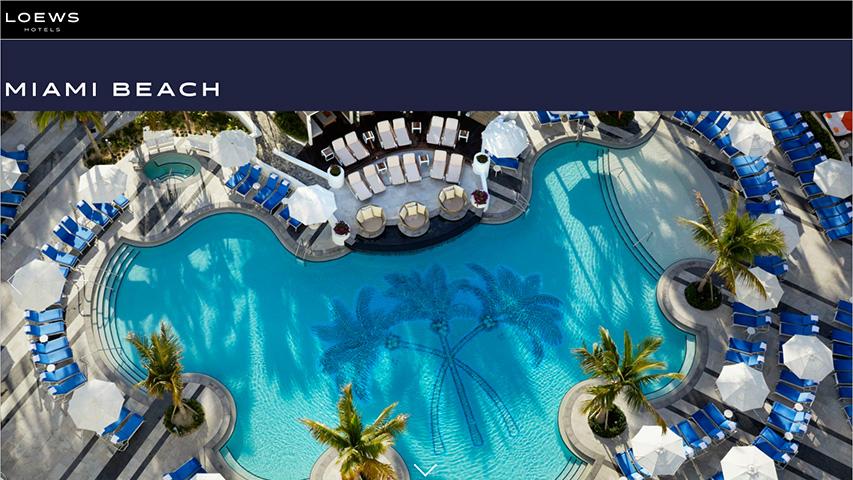Tarjeta - Loews Miami Beach Hotel