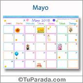 Calendario Multicolor - Mayo 2018