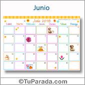 Calendario Multicolor - Junio 2018