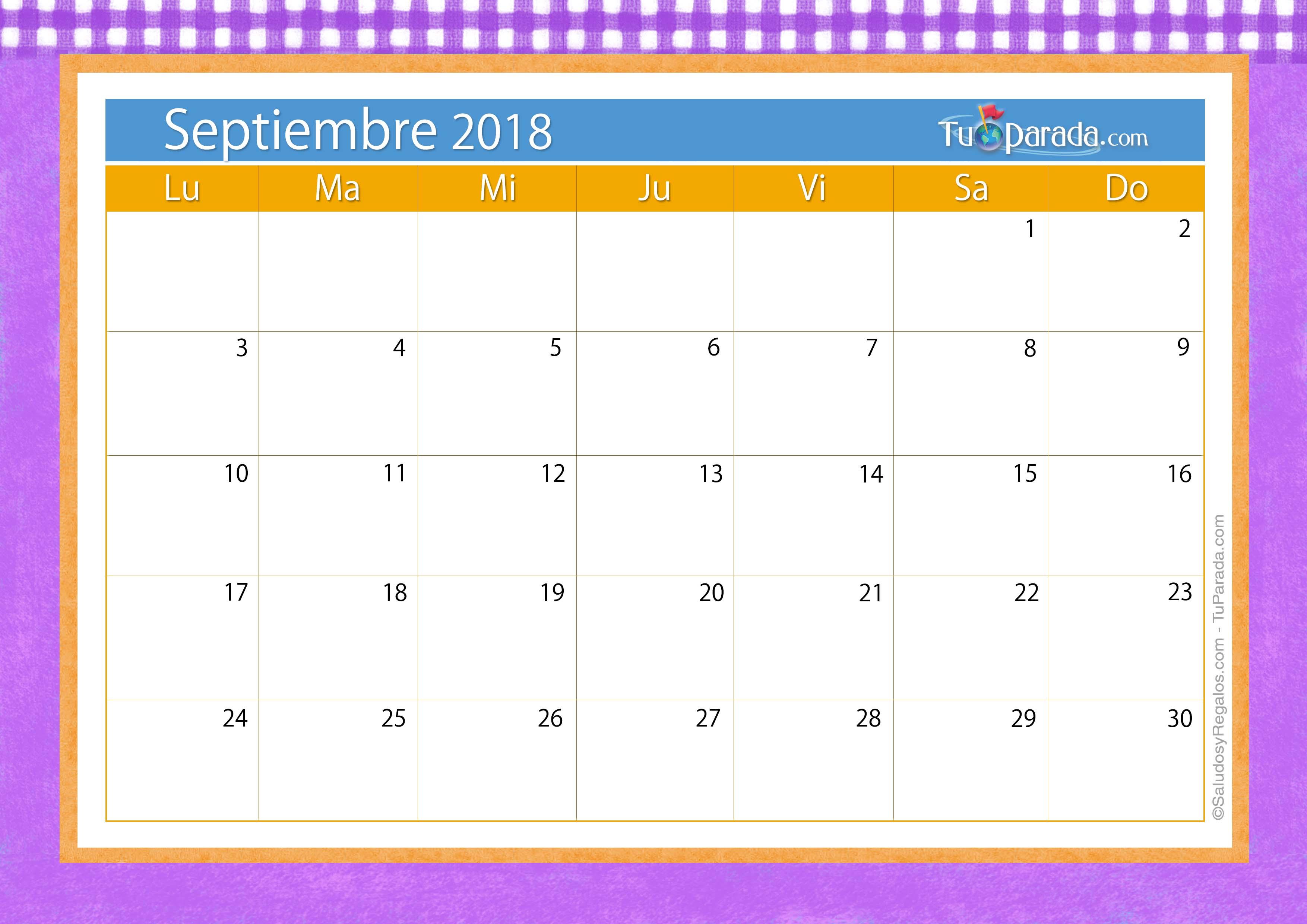 Calendario De Septiembre 2019 Para Imprimir Animado.Tarjetas Para Imprimir