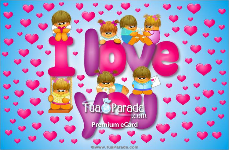 Cartão - I love you sempre