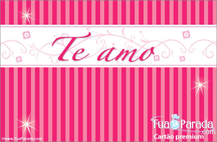 Cartão - Te amo cartão
