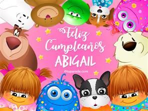 Feliz cumpleaños Abigail