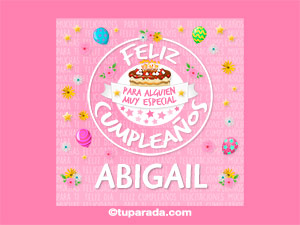 Tarjeta de cumpleaños Abigail