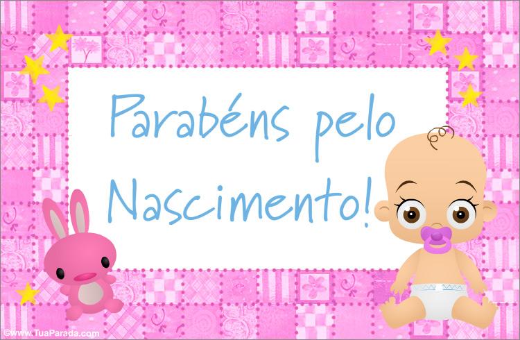 Cartão - Cartão do nascimento para menina